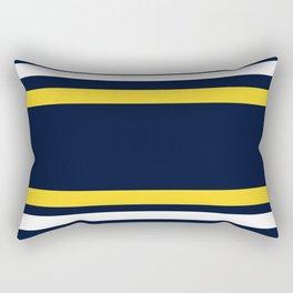 Navy and Yellow Sport Stripes Rectangular Pillow