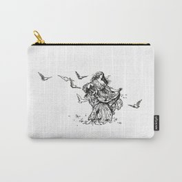 """Songs From Shakespeare"" Shakespearean Woman Feeding Doves Carry-All Pouch"