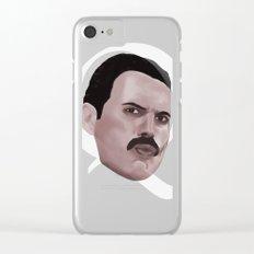 Queen Freddie Clear iPhone Case