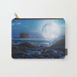 Relaxing with the moon Carry-All Pouch