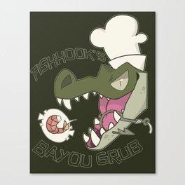 Fishhook's Bayou Grub Canvas Print