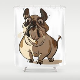 Leone the British bulldog Shower Curtain