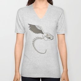 When Rabbits Fly Unisex V-Neck