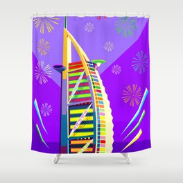 Al buruj Tower Shower Curtain