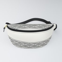 African Wax Print in Cream Fanny Pack