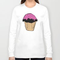 cupcake Long Sleeve T-shirts featuring cupcake by Sarah Mould