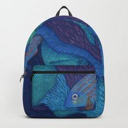 Waiting, Mermaids Fish, Undewater Surreal Fantasy Backpack