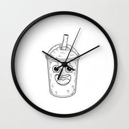 Funny Coffee Barista Store Maker Wall Clock