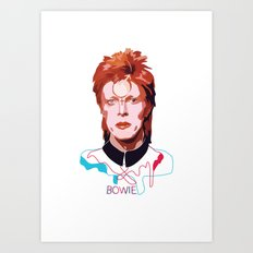 Bowie (Words) Art Print