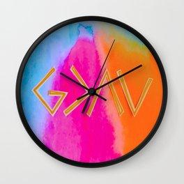 God Is Greater - Tie Dye Wall Clock
