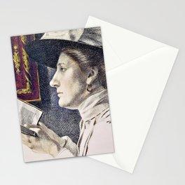 12,000pixel-500dpi - Portrait of a woman, reading a book - Maximilian Liebenwein Stationery Cards