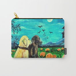 Dogs in Pumpkin Patch Carry-All Pouch
