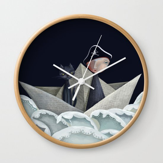 The Pirate Ship Wall Clock