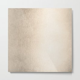 Ecru Blush Gold Sands Metal Print