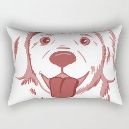 Golden retriever dog Rectangular Pillow