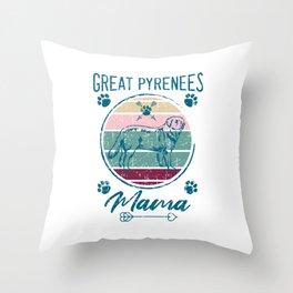 Great Pyrenees Mama Throw Pillow