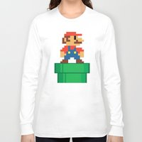 mario bros Long Sleeve T-shirts featuring Mario Bros by WaXaVeJu