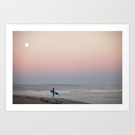 Surfermoon Art Print