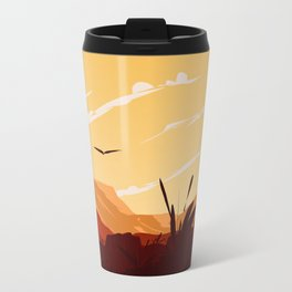 West Texas Landscape Metal Travel Mug
