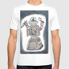 CLANK! CLANK! YOU'RE DEAD! Mens Fitted Tee MEDIUM White