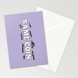 Same Coin - Purple Stationery Cards