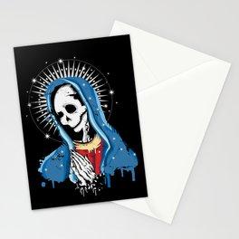 Virgin Mary prays Stationery Cards
