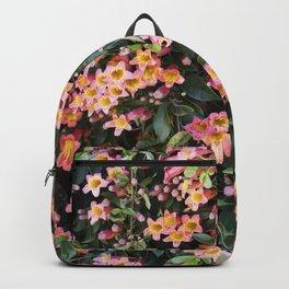 Tangerine Beauty Cross Vine Flowers Backpack