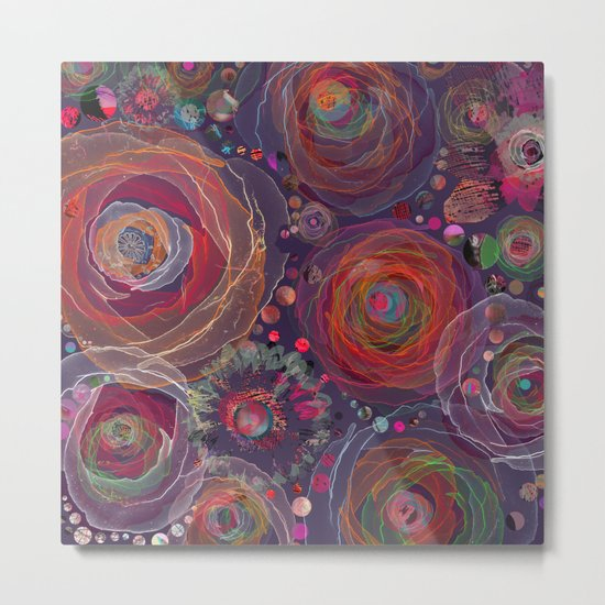Floral abstract(53). Metal Print