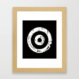 Black & White Target Framed Art Print