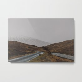 Glen Etive Road Metal Print
