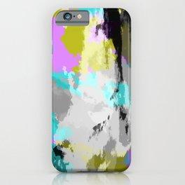 Colorful Abstract Retro Tie-Dye Art Pattern - Kameko iPhone Case
