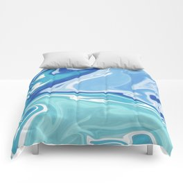 MARBLE - SEA - CLOUDS - SMOKE - WAVES Comforters