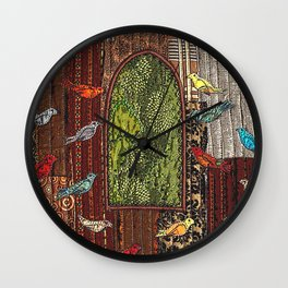 In the birdhouse Wall Clock