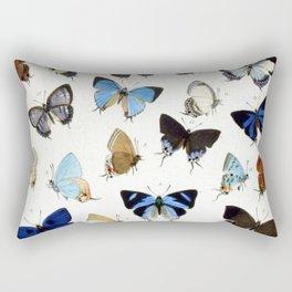 Vintage Butterfly Illustration Rectangular Pillow