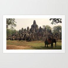 Bayon Temple Art Print
