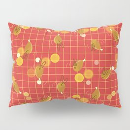 Dancing Drumstick with Rabbit Face No.2 Pillow Sham