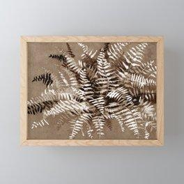 Fern in brown scale Framed Mini Art Print