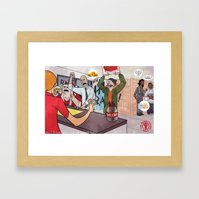 2013 D.O.T (Death Of Twinkies) Framed Art Print