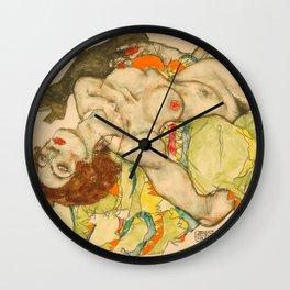 "Egon Schiele ""Female Lovers"" Wall Clock"
