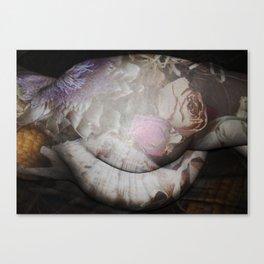 FLORAL NUDE Canvas Print