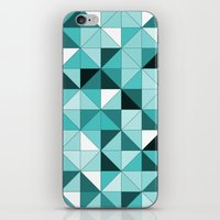 teal iPhone & iPod Skins featuring teal  by Hannah