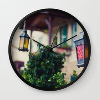 lanterns Wall Clocks featuring lanterns by De's Fantastical Creations