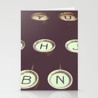 typewriter Stationery Cards featuring typewriter by stevee
