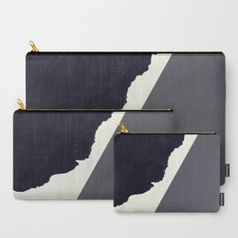 Contemporary Minimalistic Black and White Art Carry-All Pouch