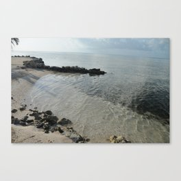 Your own private beach...  Canvas Print