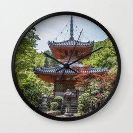Mitaki-dera Wall Clock