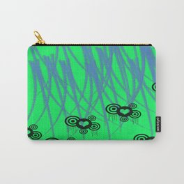 Green Teal Slasher Hearts  Carry-All Pouch