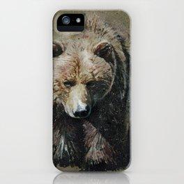 Bear background iPhone Case