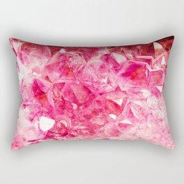 Cherry Pink Crystals Rectangular Pillow