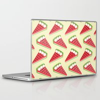 pie Laptop & iPad Skins featuring Watermelon pie by Petits Pixels